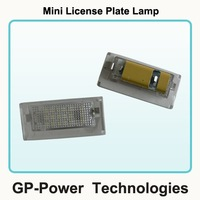 2012 Newest Error Free No Interference to Radio  Auto LED License light For Mini Couper