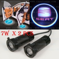 SEAT Mark Car LED LOGO Light Welcome Light Car Door Step Ground Projecting Lamp For Exeo lhambra Leon Ibiza Altea etc