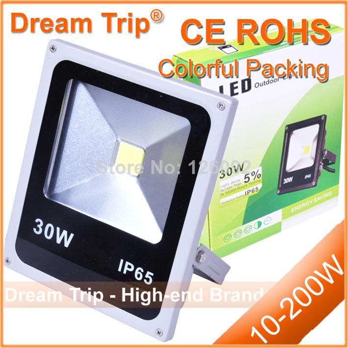 Hot Sale IP65 LED Flood Light Waterproof 10W 20W 30W 50W 70W 100W Warm White / White/ RGB Outdoor LED Floodlight Lamp(China (Mainland))