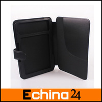 "Leather Cover Case for Kindle 3 (3rd Third Generation 6"" Kindle Wi-Fi + 3G) Black Free Shipping"