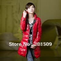New Women down cotton coat long parkas Winter Outerwear Overcoat hooded jackets