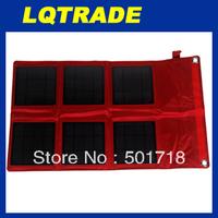 20pcs /lot High efficiency  solar panel/18W Solar folding outdoor laptop charging bag