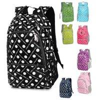 2015 hot sale zipper unisex dot nylon mochila frozen rodinha infantil new style backpack women casual bags free shipping