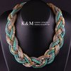K&amp;M---New arrival top fshion handmade Multi chain plaited Necklace NK-00872. Free Shipping