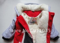 free shipping !Thickening lamb David children clothing cotton-padded jacket suit quilted jacket