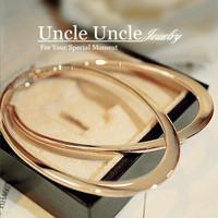 Classic Elliptical Shape Design!!! 18K Rose Gold Plated Timeless Styling Lady Trendsetter Hoop Earrings Wholesale