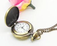 Retro Pocket Watches Necklaces With Roman Characters Pointer