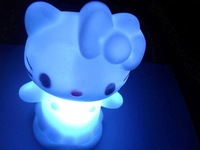 Free Shipping New Hello Kitty LED light Candle lamp with 7 Changing Color home decorate Christmas kid gift  Celebrate things