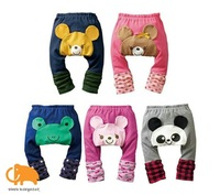 Free shipping popular cute baby PP pants,cartoon 5 designs,comfortable top quality PP trousers,toddler baby legging,15 pcs/lot