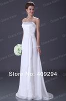 Free shipping ! 1pc/lot grace karin 2013  Stock Chiffon Formal Wedding Dress Bridal Gown CL3184