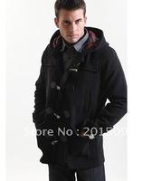 wholesale New fashion Men wool coat winter jacket outdoor Hoodies overcoat outerwear trench coat man windbreaker