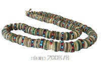 BRO776   Tibetan 108 beads Old Oiled Yak bone prayer beads mala,13mm,Tibet traditional buddhist rosary