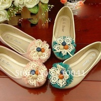 Kids Shoes For Dance Girl's Lace Flower School Shoes Children Fashion Step-in Flats For Party 0801016-BSO