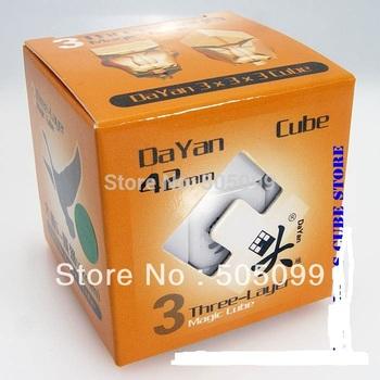 Free shipping Mini DaYan Zhanchi 42mm  stickerless 3x3  cube