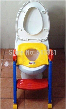Wholesale 10pcs/lot Children Toilet Training Seat Ladder Potties Bambino with step