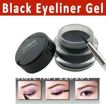 Free shipping 5G Waterproof black eyeliner gel with brush Fluidline Make-up eyeliner