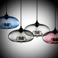 "Free shipping!Hot selling Niche Modern glass pendant ,Aurora Modern Pendant Light (11""dia x 4.75""H"") ,YSL-ML0880"