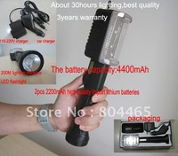 best quality led working light+led torch,4400mAh rechargeable li battery,suit for camping,fishing,hike lighting