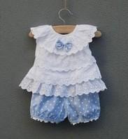 Children's clothing summer set girl female child baby boys set 0 - 6 1 2