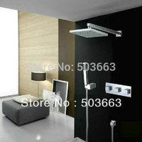 "12"" Shower head+ Arm + Hand Spray+Valve +Spout Shower Faucet Sett CM595"