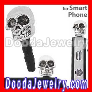 10pcs/lot, Cute Skull Charm Earphone Anti Dust Plug Wholesale YB074 Free Shipping