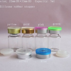 (DHL)Free Shipping-1500pcs/lot 5ml glass bottle+flip off cap+silicone,butyl rubber stopper,cosmetic packaging container(China (Mainland))
