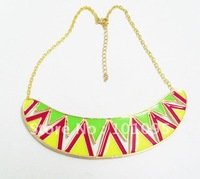 (Min order $15!) Neon chevron shape  necklace Aztec style  Necklace Free shipping