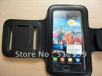 1pc Drop Ship ~.~ Soft Sport Armband Arm Band Belt Case Cover Pouch For Samsung Galaxy S2 SII i9100 + Black Color