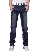 Korean style, fashion style  Men's Classic Stylish Handsome Casual Straight Leg Jeans Pants Trousers Z216