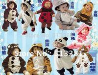 Wholesale-4 sets/lot Fashion Baby Boy&Girl's Romper(Single Layer)14 styles Infant Climbing Wear Animal Romper