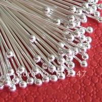 Free shipping SILVER PLATED BALL PINS HEADPINS 20MM, Headpins Ball, 1000pcs/lot
