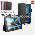New! Black folio stand leather case cover for SAMSUNG GALAXY NOTE 10.1 N8000,11 colors,100pcs/lot, free shipping