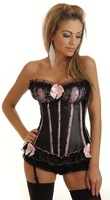 New Sexy Brocade Gorgeous Corset top bustier with thong