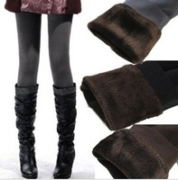1772 Bamboo Fiber two layer Thick warming keeping winter Slim Leggings Stretch Pants for women