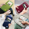 Free Shipping++New Organizer multi-purpose travel bag Canvas Traveling Handy Bag Card Wallet,Bankbook Pocket soft bag