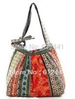 Design Linen Flowers Printed Woman Lady Girl's Tote Bag Handbag Shoulder Bag