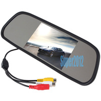 "NEW 4.3"" inch TFT Car LCD Rear View Rearview DVD Mirror Monitor for car camera"