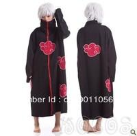 Free Shipping Promotion High Quality Japanese Anime costumes cosplay costumes NARUTO Akatsuki Ninja Uniform / Cloak CF-02