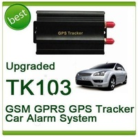 FEDEX free shipping! 5pcs/lot TK103A GPS103 Most Popular and Powerful Vehicle GPS Tracker + Vehicle Alarm QUAD BAND