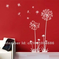 Free Shipping Home Decor Pfefect Dandelion Wall Stickers Wall Decals Large size only90*150cm