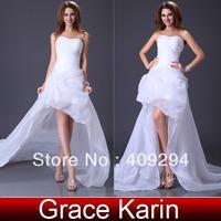 free shipping ! Retail!Charming  Grace Karin  Stunning Strapless Beach Wedding Bridal Princess Dress Gown 8 Size,CL3121