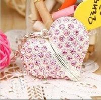 Pink Diamond Lovely Heart  4-32GB USB Memory Stick Flash Pen Drive For girl Women