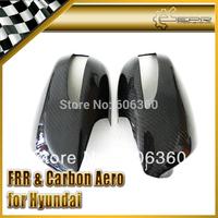 FOR Hyundai Coupe Genesis 08-12 Carbon Fiber Side Mirror Cover 2PCS
