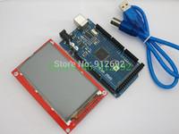 MEGA 2560 R3 ATmega2560-16AU Board For Arduino +3.5 Inch TFT Touch LCD Screen Module free shipping