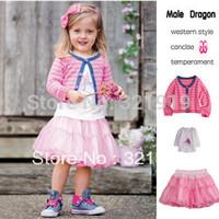 2014 hot  sale fashion clothing sets girls suits pink 3pcs tshirt baby baby dress tutu girl dress winter 2012