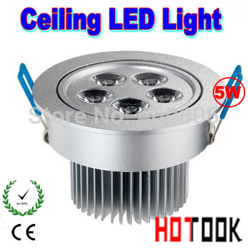 5w led ceiling lamp Warm White 5W LED Recessed Ceiling Down Light Fixture Cabinet Lamp 85~265V + LED Driver CE RoHS X 60pcs(China (Mainland))