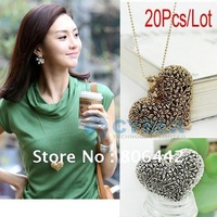 Hot Sale 20Pcs/Lot Fashion Necklace Alloy Necklace Hollow Tree Heart Pendant Antique Necklace Coat Chain Free Shipping