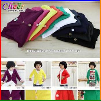 Knitting Free Shipping+5pcs/lot,Children Clothing,Kids Knitting Cardigan Coat/Jacket,Baby Boy Girl Sweater Wear 8 color
