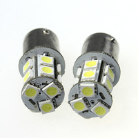 Free Shipping  10pcs Car 1156 BA15S Tail Brake 13 LED 5050 SMD DC 12v Turn Signal White Light Bulb Lamp