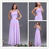 Free Shipping Bridesmaid Dresses Floor length Ruffles Chiffon Freshlook Maid of Honor Dress